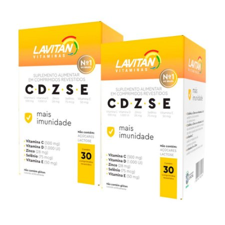 Kit 2 Lavitan Imunidade CDZSE - 30 Comprimidos - Cimed