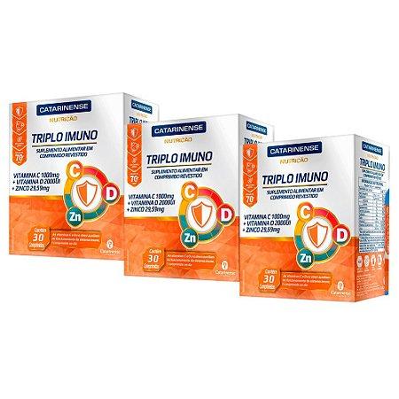 Triplo Imuno - 3 unidades de 30 Comprimidos - Catarinense