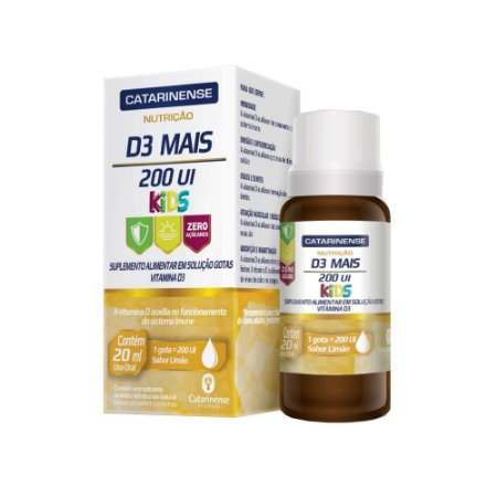 Vitamina D3 Mais Gotas 200 UI Kids Catarinense 20ml