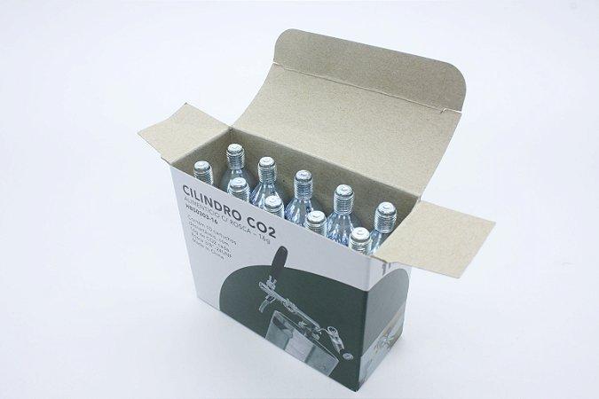 Cilindro 16G CO2, rosca 3/8-24UNF - Descatavel