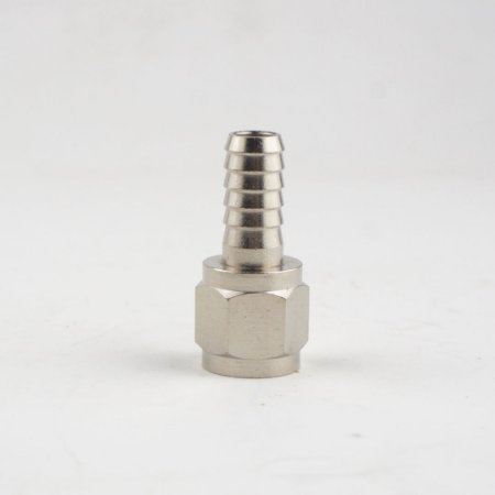 """Espigão 1/4"""" c/ rosca 7/16""""FL para conector ball lock com rosca"""