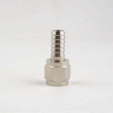 """Espigão 5/16"""" c/ rosca 1/4""""FL para conector ball lock com rosca"""