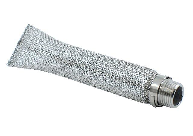 "Bazooka de inox 304 de 6"" - rosca MACHO 1/2"" NPT, tela 16"