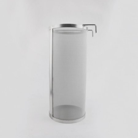 Filtro cilíndrico com alça e gancho, 300 micra