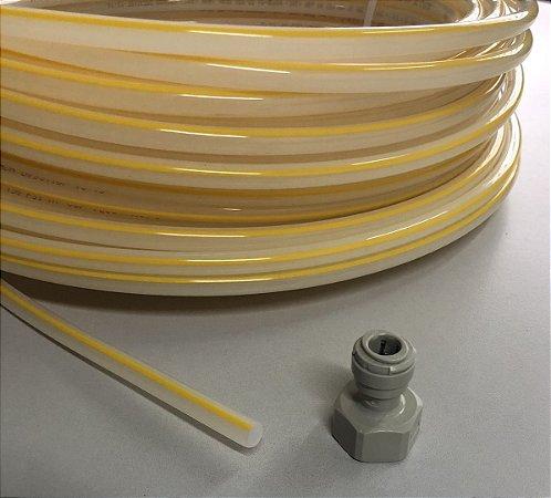 Tubo de polietileno 3/8 listra amarela