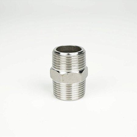 "Niple 3/4"" BSP x 38mm sextavado"
