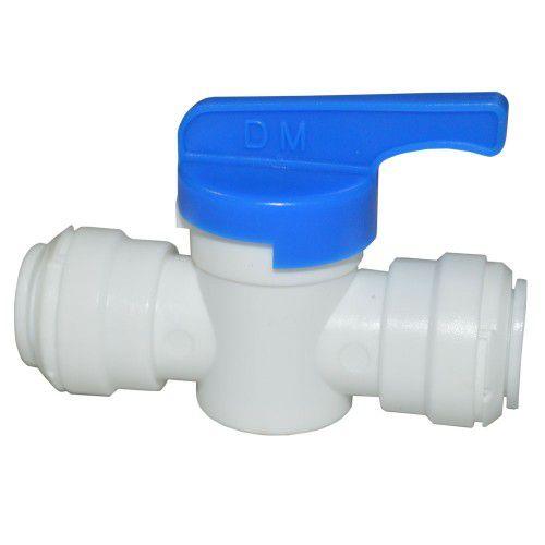 """AHUC0505W - Conexão rápida união com válvula manual tubo 5/16"""" X tubo 5/16"""""""