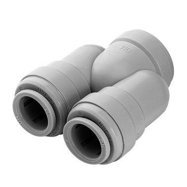 """AUB0606 - Conexão rápida curva em """"U"""" tubo 3/8"""""""