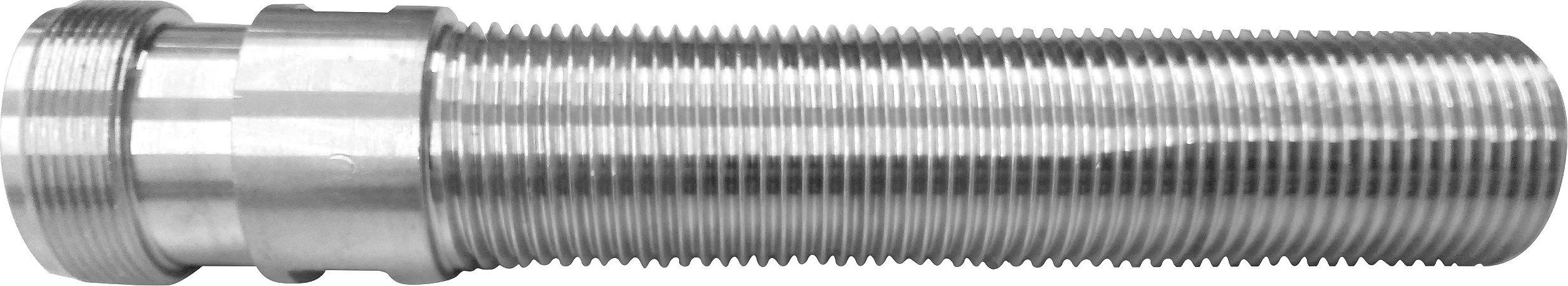 Shank/rosca 100mm inox p/ torneiras de chope tipo belga
