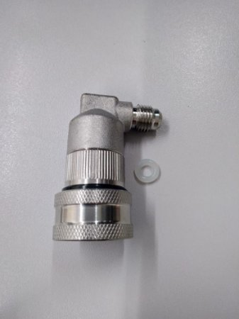 """Conector Ball Lock Inox Liquido - Rosca 7/16"""""""