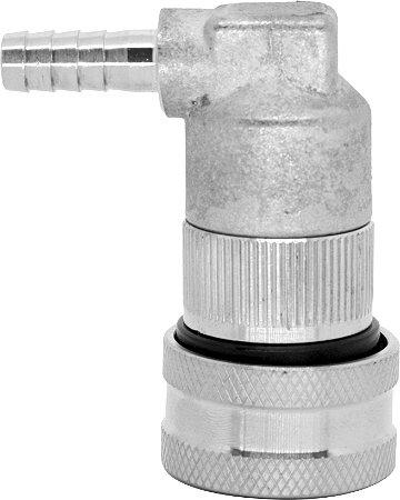 """Conector Ball Lock Inox Liquido - Espigão 1/4"""""""