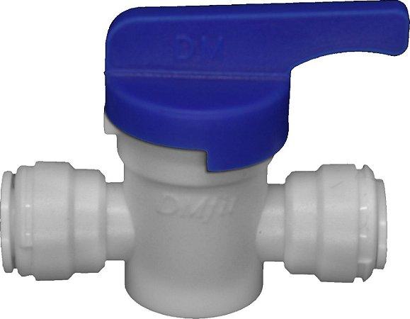 """AHUC0707W - Conexão rápida união com válvula manual tubo 1/2"""" X tubo 1/2"""""""