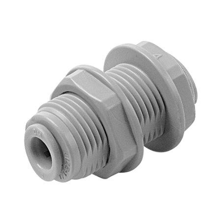 """ABU0404 - Conexão rápida união anteparo tubo 1/4"""" X tubo 1/4"""""""