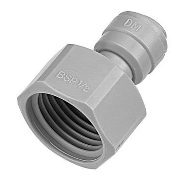 "AFAB0609F-1 - Conexão rápida rosca fêmea 3/4"" BSP x tubo 3/8"""