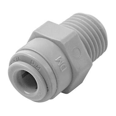 "AMC0607 - Conexão rápida rosca macho 1/2"" NPT x  tubo 3/8"""