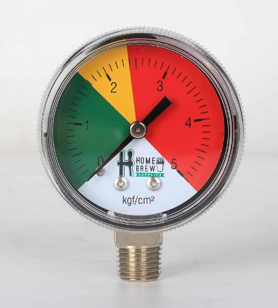 Manômetro de Baixa para Reguladoras de CO2 Chope