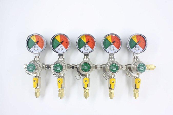 Reguladora de Pressão para CO2 - 5 vias secundária
