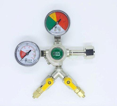 Reguladora de Pressão para CO2 -  2 vias