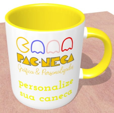 Caneca Personalizada do seu Jeito - Alça e Interior Amarelo