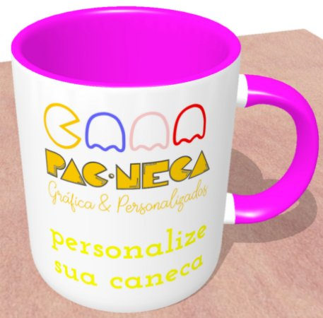 Caneca Personalizada do seu Jeito - Alça e Interior Rosa