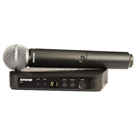 Shure BLX24/SM58 Sistema Sem Fio com Microfone de Mão