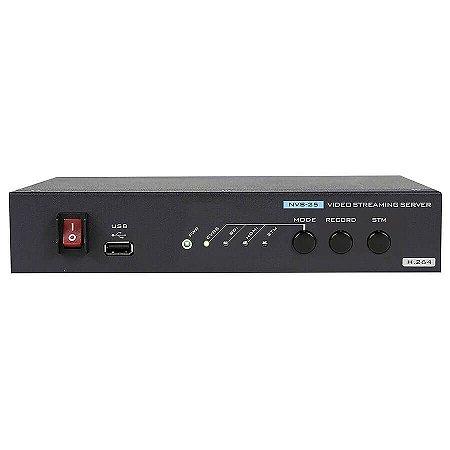Servidor de streaming e gravador NVS-25
