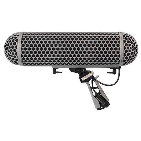 Kit Blimp RODE Windshield e Suspensão Rycote Para Microfones Shotgun