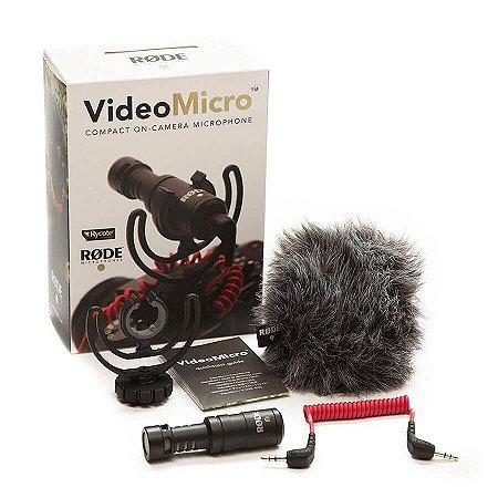 Microfone Compacto Para Câmera RØDE VideoMicro