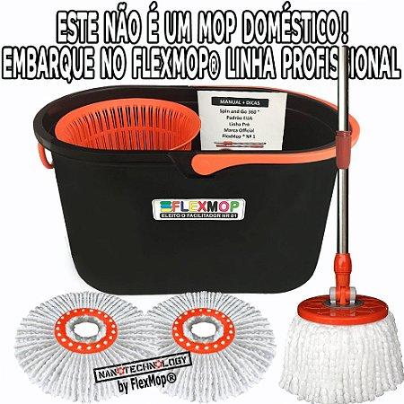 Spin Mop 360, Linha Pró (Profissional) Promo 02 Refil 150 gr Padrão USA Marca: FlexMop