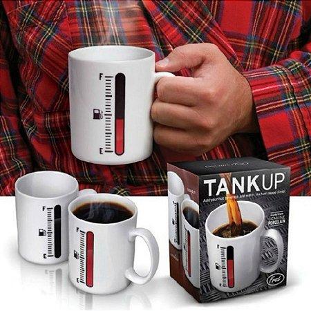 Caneca Porcelana Sensitiva ao Calor com Mostrador Tipo Termomêtro Change Cup®