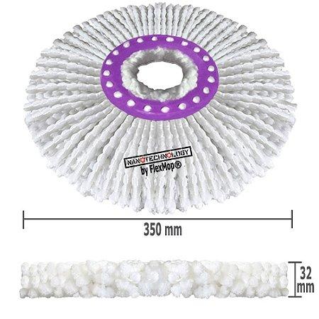 Refil Mop Spin Go Microfibra Nano Padrão USA 150 Gramas, Ø370 mm, Marca: FlexMop®