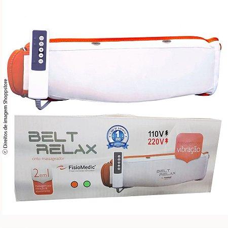 Cinta Vibratória Modeladora e Redutora de Alta Performance Belt Relax® Bivolt Laranja