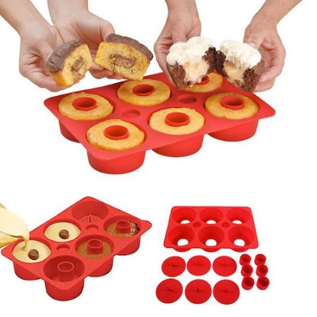 Forma de Bolo Cupcake Secret® Silicone Vermelho