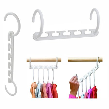 Cabide Organizador Wonder Hanger® Branco Kit 8 Packs p/40 Cabides