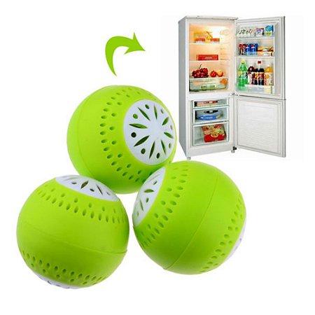 Neutralizador de Odores p/Geladeiras e  Anti Deteriorização Alimentos Fresh Fridge Balls®