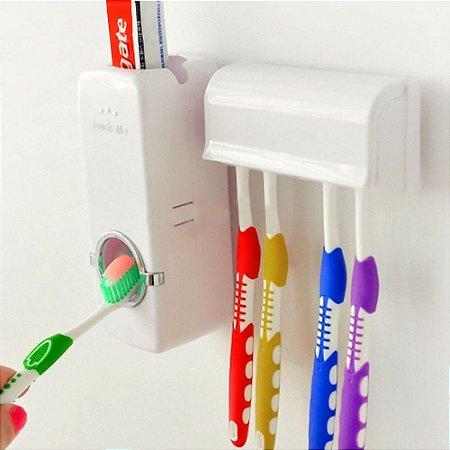 Aplicador de Creme Dental + Suporte Protetor de Escovas Marca: Toothpaste Touch Me®