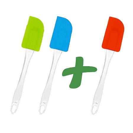 Pague 2 Leve 03 Espátulas Coloridas de Silicone Kitchen® Utensílios