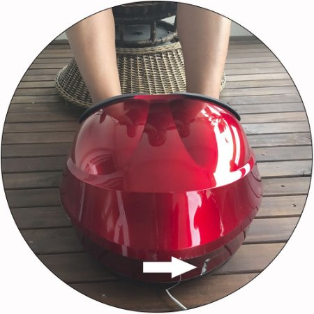 Massageador de Pés Sistema Shiatsu + Sistema Airbags  Foot Massager® (Semi Novo Show Room) 220V