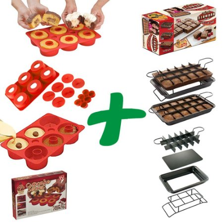 Combo Forma de Brownie Perfect Brownie® + CupCake Secret® Forma de Silicone
