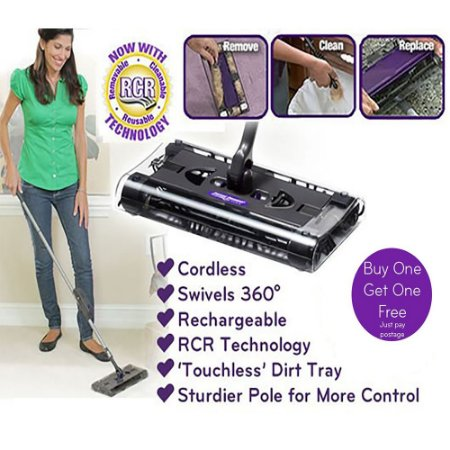 Vassoura Elétrica Mágica Sem Fio Recarregável 110v Swivel Sweeper®