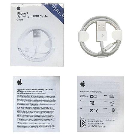 Cabo Carregador Iphone Apple Lightning USB 1m Iphone 5, 6, 7 e Ipad 4