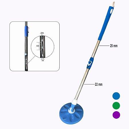 Kit Haste Mop +Robusto c/25mm +Base(Porta Esfregão)  Linha Hobby2.0FlexMop®