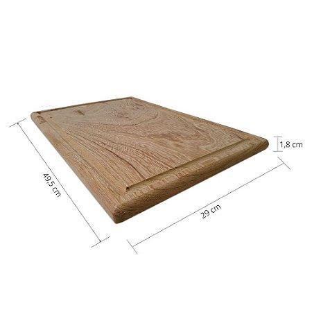Tábua de Churrasco em Prancha Cedro Náutico Madeira de Lei p/Cortar Carnes/Servir Aperitivos da Shoppstore®