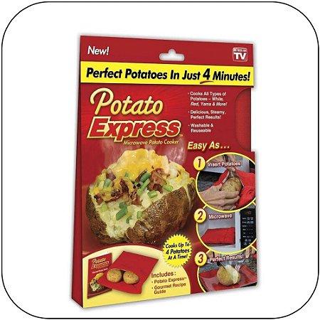 Potato Express da Shoppstore Saco p/Batatas e Legumes Cozidos em Minutos Original Potato Express®