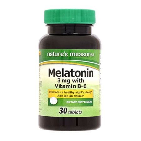 Mellatonina 3 mg c/ vitamina B6 Frasco c/30un Natures Measure®