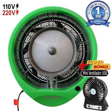 Climatizador Cassino 2019 Econômico/Potente Consumo 160W Fluxo Ar 2.760m³/h Marca:Joape Cor Verde