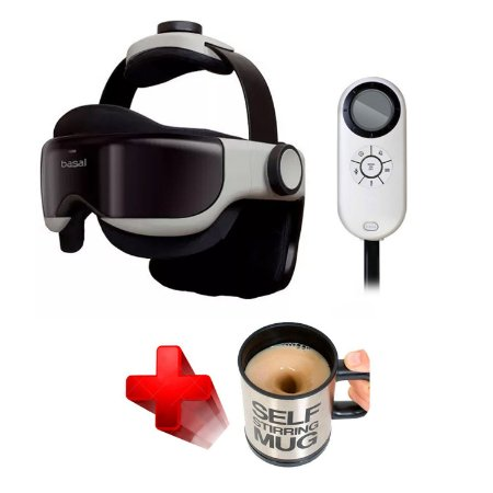 Massageador Eye Head Massager Idream 1260 Marca: Basal® + Brinde Caneca Automática Original Stirring Mug®