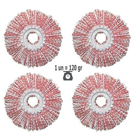 Kit Refil Mop Nano Microfibra 2020 Promoção 4un p/1 Ano Shoppstore, Ø350 mm, Cor Red Marca: FlexMop®