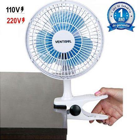 Mini Ventilador 20cm By Shoppstore c/Suporte de Mesa e Clip Destacável c/2 Velocidades 110V