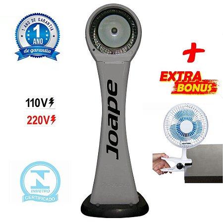Climatizador Cassino Pedestal 2020 Marca Joape By Shoppstore + Brinde Mini Ventilador 20 cm Cor Cinza